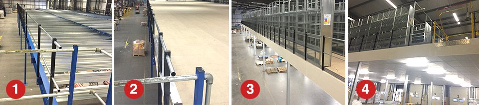 Step by Step - Under Mezzanine Docking Station Warehouse Solution